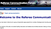 Referee Communication Forum